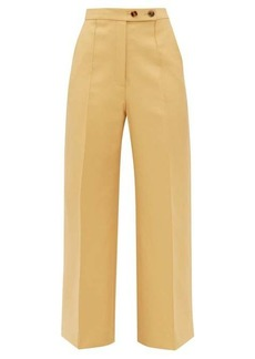Khaite Yasmin wide-leg cotton trousers