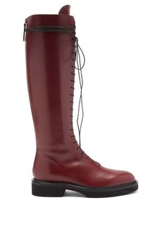 Khaite York knee-high leather boots