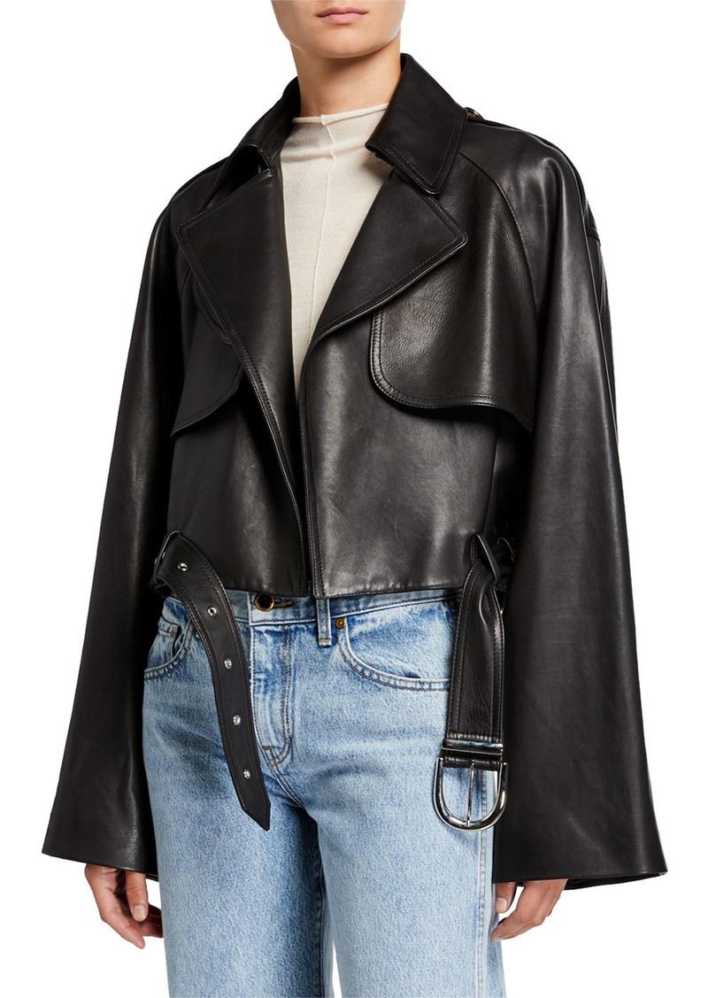 Khaite Krista Leather Moto Jacket