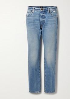 Khaite Kyle Distressed Low-rise Straight-leg Jeans