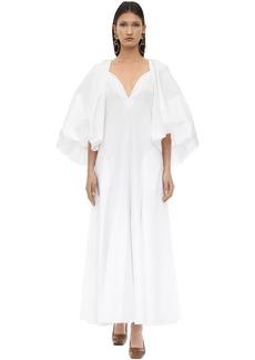 Khaite Long Joanna Cotton Twill Dress