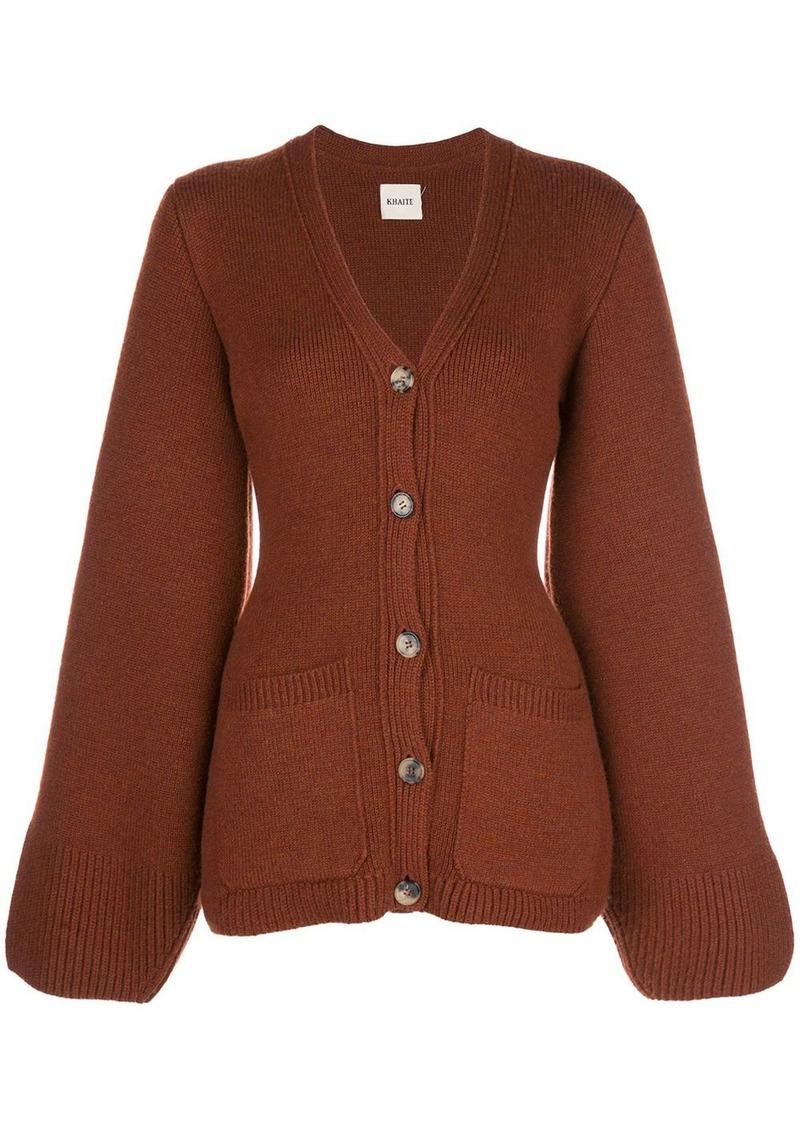 Khaite Lucy slim-fit wool cardigan