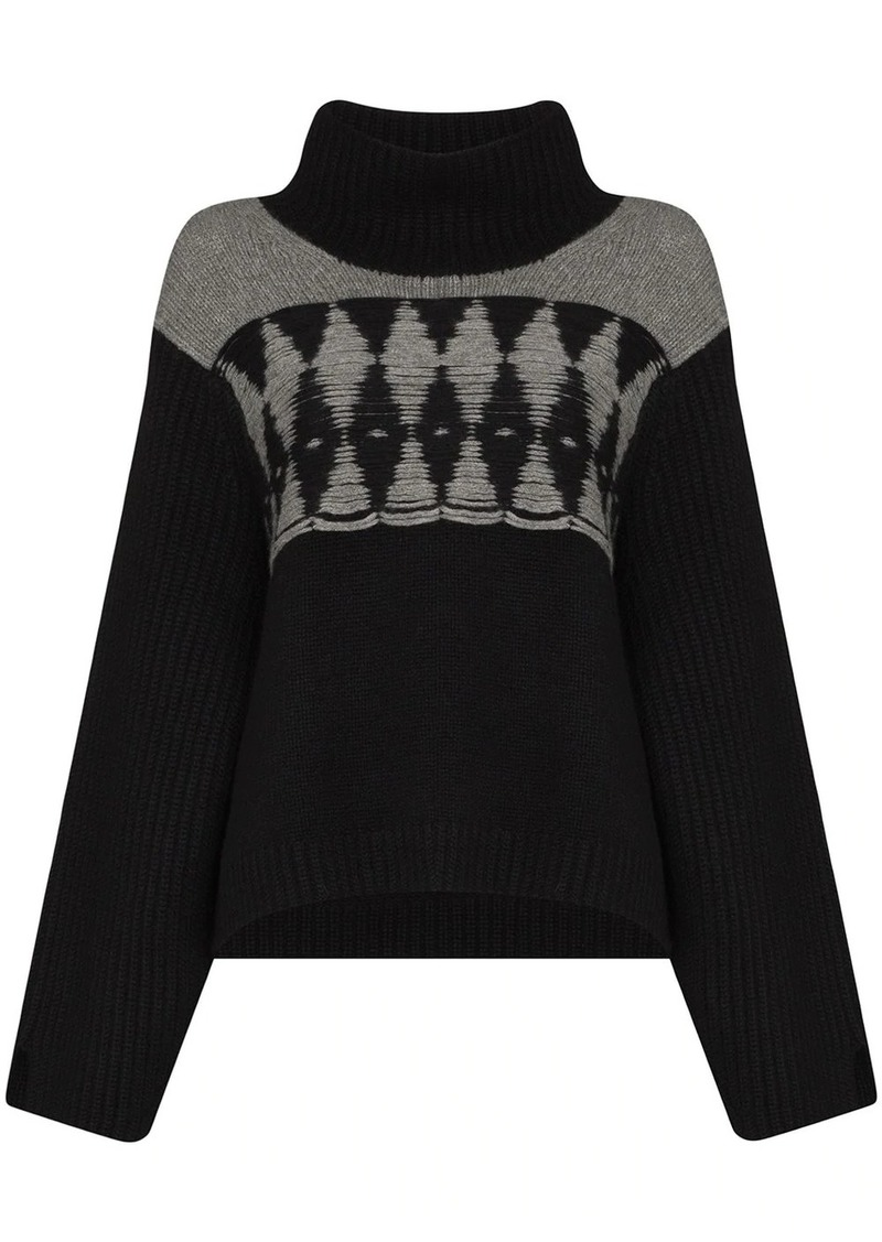 Khaite Luna oversized intarsia cashmere jumper