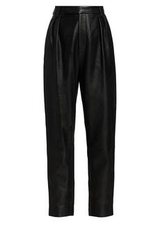 Khaite Magdeline Leather High-Rise Pants