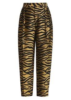Khaite Magdeline Tiger-Stripe Pants
