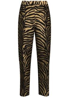 Khaite Magdeline zebra-print tapered trousers