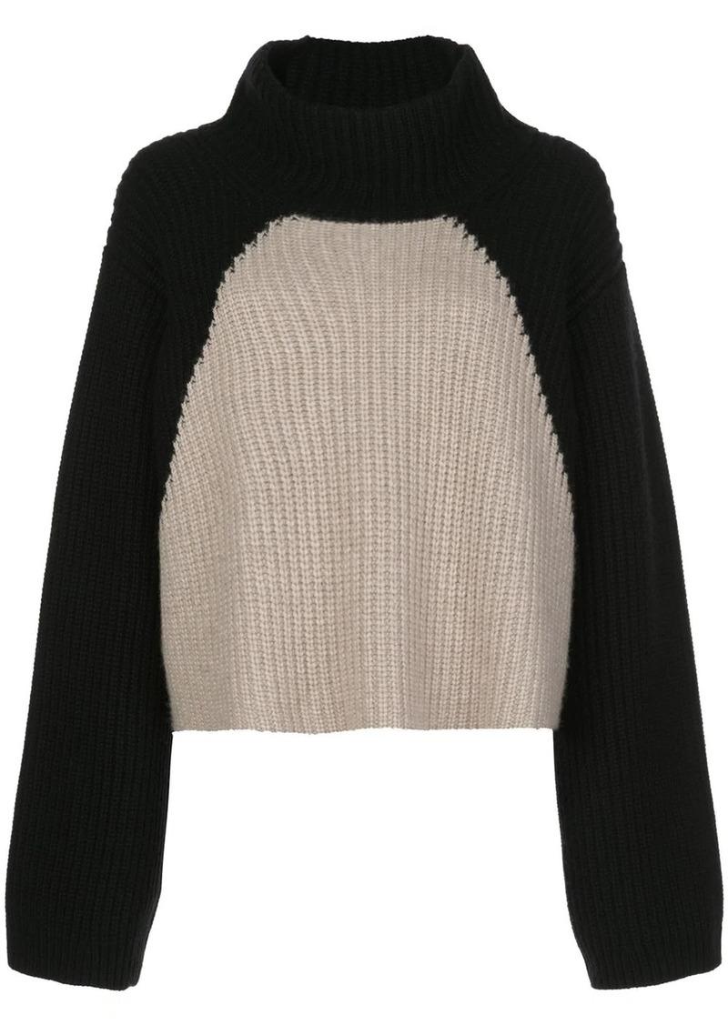 Khaite Marianna ribbed colour-block jumper