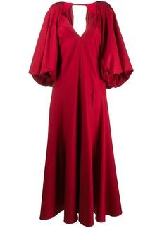 Khaite puff sleeve evening dress