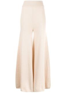 Khaite Rachelle wide-leg cashmere trousers