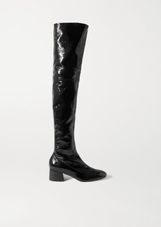 Khaite Sedona Crinkled Patent-leather Over-the-knee Boots