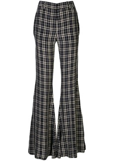 Khaite check flared tailored trousers