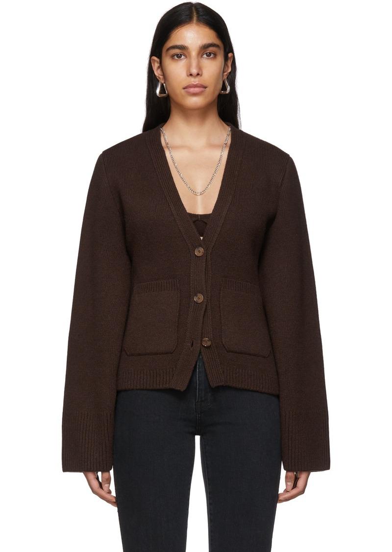 Khaite SSENSE Exclusive Brown Cashmere Cardigan