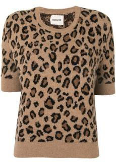 Khaite The Dianna cheetah print jumper