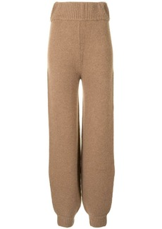 Khaite The Joey knitted trousers