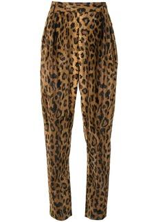 Khaite The Magdeline cheetah print trousers