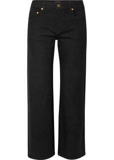 Khaite Wendell Cropped High-rise Wide-leg Jeans