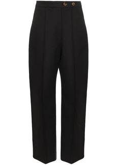 Khaite Yasmin pleated wide-leg trousers