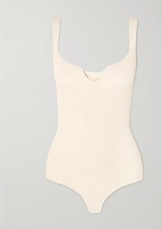 Khaite Yves Ribbed-knit Bodysuit