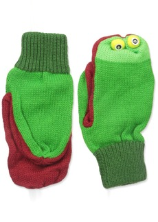 Kidorable  Frog Soft Acrylic Knit Mittens w/Fun Frog Puppet Mouth and Eyes  (Ages 6-8)