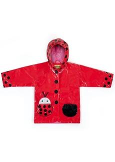 Kidorable Little Girls Ladybug Raincoat