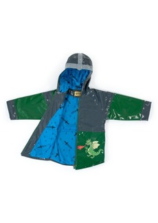 Kidorable Toddler Boy with Comfy Dragon Knight Raincoat