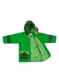 Kidorable Toddler Boy with Comfy Frog Raincoat