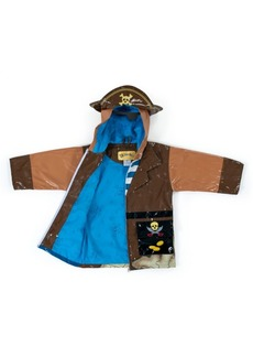 Kidorable Toddler Boy with Comfy Pirate Raincoat