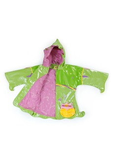 Kidorable Toddler Girl with Comfy Polyester Lining Fairy Raincoat