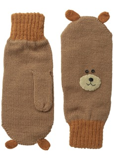 Kidorable  Bear Soft Acrylic Knit Mittens With Fun Face and Ears