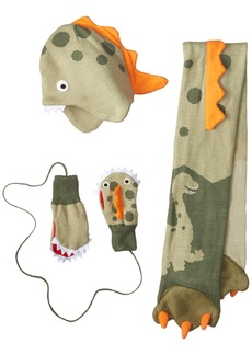 Kidorable  Dinosaur Soft Hat/Scarf/Mitten Set for Boys With Fun Dino Puppet Mouth (Ages 9+)