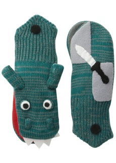Kidorable  Dragon Knight Soft Acrylic Mittens for Boys w/Puppet Dragon Mouth Small (Ages 3-5)