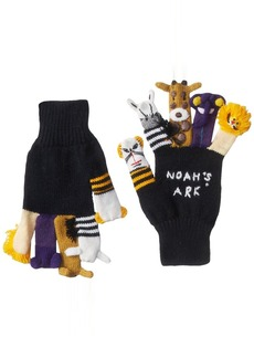 Kidorable Noah's Ark Soft Acrylic  Knit Gloves With Five Fun Puppet Animals  (Ages 6-8)