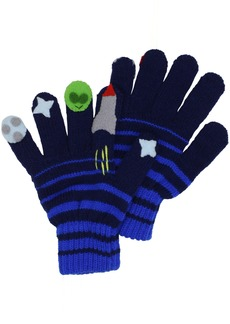 Kidorable  Space Hero Soft Acrylic Gloves for Boys With Fun Aliens and Rockets