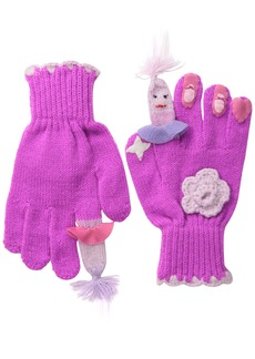 Kidorable  Ballerina Soft Acrylic Gloves for Girls With Flowers and Dancers Small (Ages 3-5)