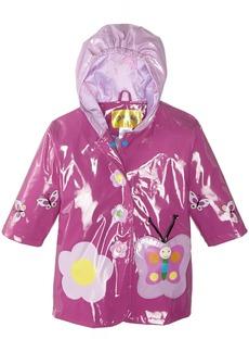 Kidorable Little Girls' Butterfly All Weather Waterproof Coat  Size