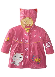 Kidorable Little Girls' Lucky Cat All Weather Waterproof Coat  Size