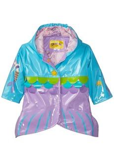 Kidorable Little Girls' MermaidAll Weather Waterproof Coat  Size 6/6X