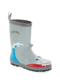 Kidorable 'Shark' Waterproof Rain Boot (Walker, Toddler & Little Kid)