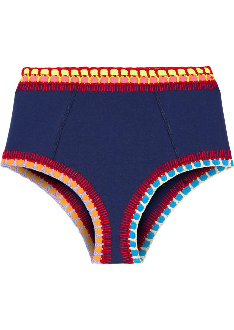 530cbc205f695 Kiini Tasmin Crochet-trimmed Bikini Briefs | Swimwear