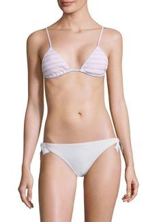 kisuii Bella Triangle Smocked Bikini Top