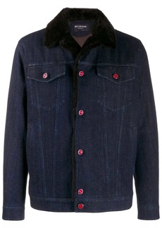 Kiton fitted denim jacket