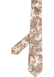 Kiton abstract pattern print neck tie