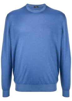 Kiton blue knit sweater