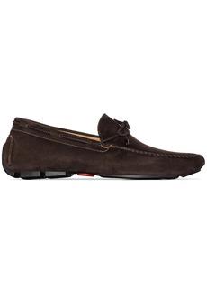 Kiton bow detail driving shoes