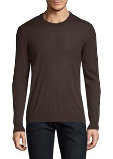 Kiton Brown Knit Crewneck Sweater