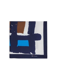 Kiton Brushstroke Silk Pocket Square