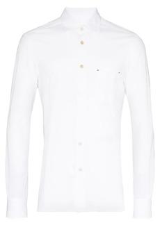 Kiton Button-down piqué shirt