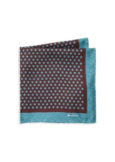 Kiton Caravan Silk Pocket Square