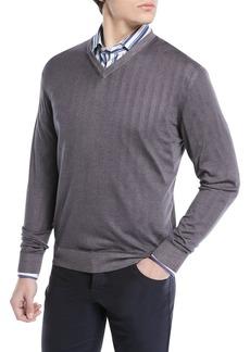 Kiton Cashmere-Silk V-Neck Sweater