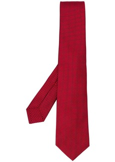 Kiton check embroidered tie